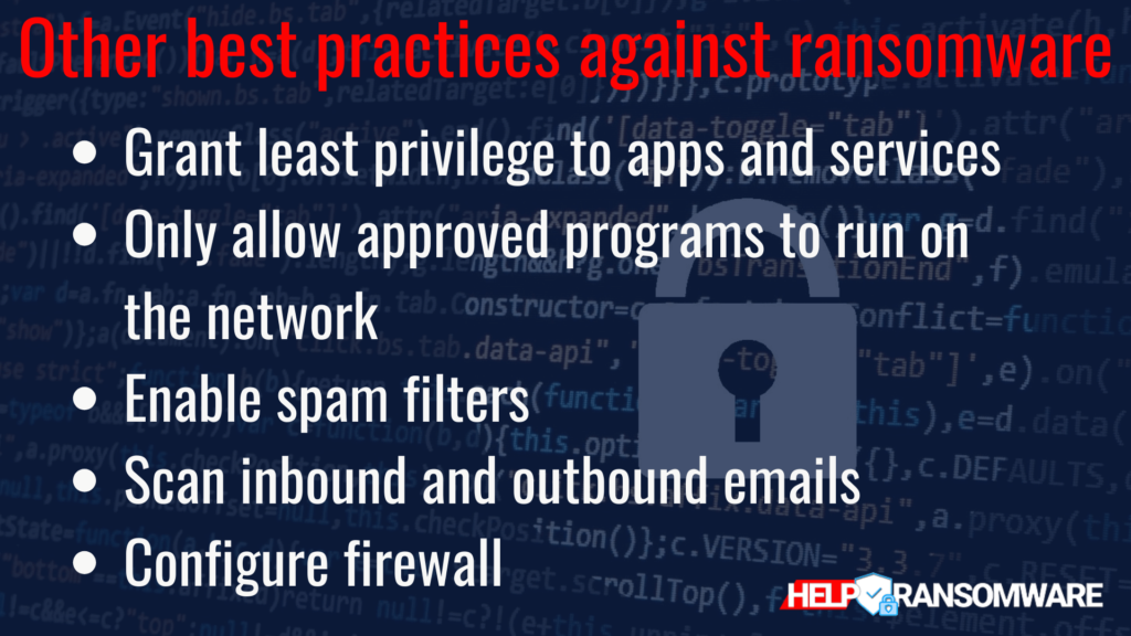 best practice against ransomware helpransomware
