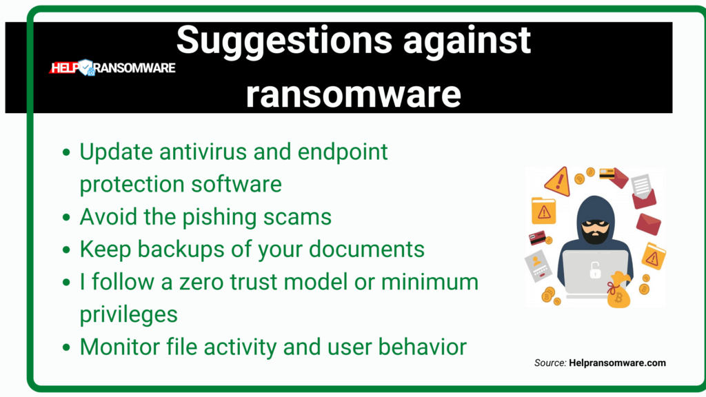 suggestion against ransomware helpransomware