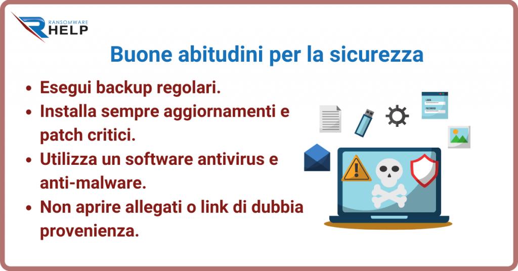Buone abitudini per proteggersi dal ransomware Help Ransomware