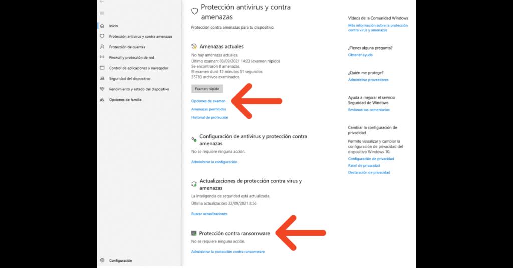 Puede Windows Defender eliminar el malware Opciones de examen. Help Ransomware